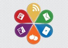Красочная концепция вебсайта и интернета Стоковые Изображения RF