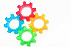 Красочная концепция колеса cog Стоковое Фото