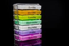 красочная коробка пилюльки Стоковая Фотография RF
