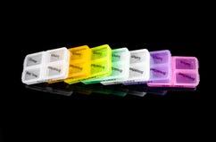 красочная коробка пилюльки Стоковые Фото
