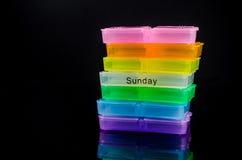 красочная коробка пилюльки Стоковое Изображение RF