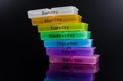 красочная коробка пилюльки Стоковые Фотографии RF