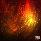 Красочная космическая предпосылка галактики космоса с светом бесплатная иллюстрация
