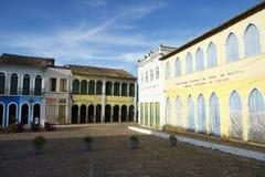 Красочная колониальная архитектура Lencois Бахя Бразилия стоковое фото