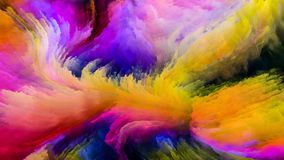 Красочная краска и за пределами Стоковое Изображение RF