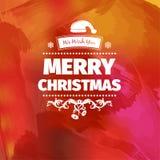 Красочная красная желтая pinky иллюстрация вектора рождественской открытки Стоковое Изображение