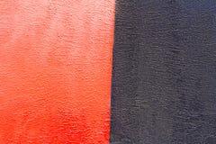 Красочная (красная и черная) кирпичная стена Стоковое Изображение RF