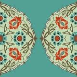 Красочная круглая флористическая предпосылка угла границы Стоковые Изображения RF