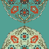 Красочная круглая флористическая предпосылка угла границы Стоковое фото RF