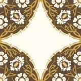 Красочная круглая флористическая предпосылка угла границы Стоковые Фотографии RF