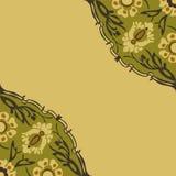Красочная круглая флористическая предпосылка угла границы Стоковая Фотография