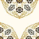 Красочная круглая флористическая предпосылка угла границы Стоковое Изображение RF