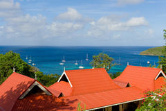 Красочная крыша обозревая залива Лорд-адмирала, Бекии Стоковая Фотография