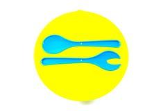 Красочная крышка салатницы стоковое изображение rf