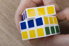 Красочная кубическая головоломка Стоковое Изображение RF