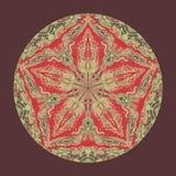 Красочная мандала акварели Восточная винтажная круглая картина абстрактной рука нарисованная предпосылкой Мистический мотив тахты Стоковая Фотография