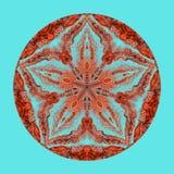 Красочная мандала акварели Восточная винтажная круглая картина абстрактной рука нарисованная предпосылкой Мистический мотив тахты Стоковые Изображения