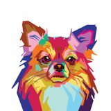 Красочная милая иллюстрация вектора собаки бесплатная иллюстрация