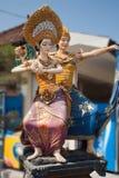 Красочная мифология статуй Бали стоковое изображение rf
