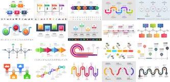 Красочная многократная цепь выравнивает срок Infographic для conce дела иллюстрация штока