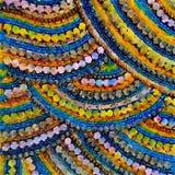 Красочная мозаика акварели вышитой бисером картины иллюстрация штока
