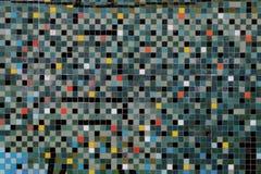 Красочная мозаика на стене Стоковая Фотография