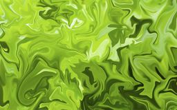 Красочная мраморная поверхность Зеленая мраморная картина смеси кривых Стоковое фото RF