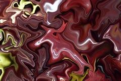 Красочная мраморная поверхность Фиолетовая мраморная картина смеси кривых Стоковая Фотография