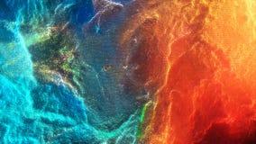 Красочная неустойчивая абстрактная предпосылка движения Абстрактная красочная анимация предпосылки частиц Moving сферы Стоковое Изображение RF