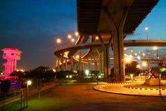 Красочная ноча на невесте Bhumipol Стоковые Фотографии RF