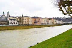 Красочная панорама в Зальцбурге стоковое изображение rf