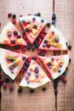 Красочная пицца арбуза тропического плодоовощ покрыла с киви, Стоковое Изображение