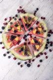 Красочная пицца арбуза тропического плодоовощ стоковое фото rf