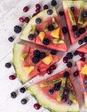 Красочная пицца арбуза тропического плодоовощ стоковое фото