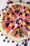 Красочная пицца арбуза тропического плодоовощ стоковые фотографии rf