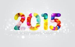 Красочная поздравительная открытка 2015 Стоковое Изображение RF
