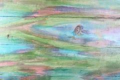 Красочная покрашенная деревянная предпосылка текстуры Плоское положение скопируйте космос стоковое изображение
