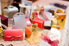 Красочная подарочная коробка с лентой Стоковая Фотография RF
