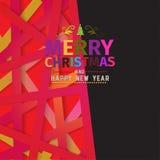 Красочная положительная с Рождеством Христовым поздравительная открытка Стоковое Изображение RF
