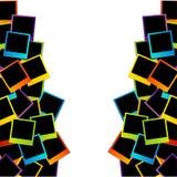 Красочная поляроидная рамка Стоковое фото RF