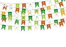 Красочная праздничная овсянка с клевером Ирландский праздник - день Патрика Стоковое фото RF