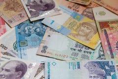 Красочная предпосылка банкноты бумажных денег Старого Мира Стоковые Фотографии RF