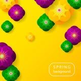 Красочная предпосылка весны с красивыми цветками Вектор Illust бесплатная иллюстрация