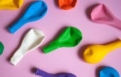Красочная предпосылка воздушных шаров стоковые фотографии rf