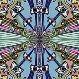 Красочная предпосылка глаз Абстрактная картина руки иллюстрация штока