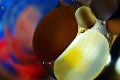 Красочная предпосылка от падений воды Стоковые Изображения RF