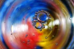 Красочная предпосылка от падений воды Стоковые Фотографии RF