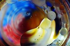 Красочная предпосылка от падений воды Стоковое Изображение RF