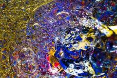 Красочная предпосылка от падений воды Стоковая Фотография