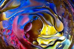 Красочная предпосылка от падений воды Стоковая Фотография RF